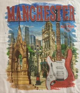 Hard-Rock-Cafe-MANCHESTER-2016-City-Tee-White-T-SHIRT-2X-XXL-Men-039-s-New-Tags-V16