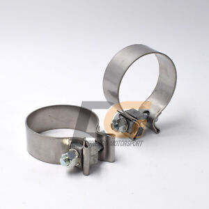 Image is loading Stainless-Steel-Band-Cl&-2-5-034-2- & Stainless Steel Band Clamp 2.5