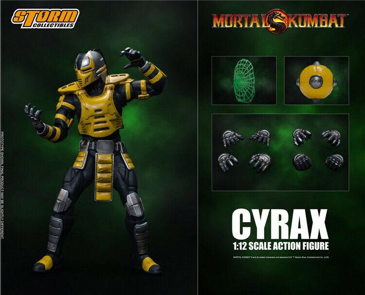 Escala 1 12 tormenta Juguetes ninjaroids Cyrax Mortal Kombat LK-4D4 Juego Figura De Acción