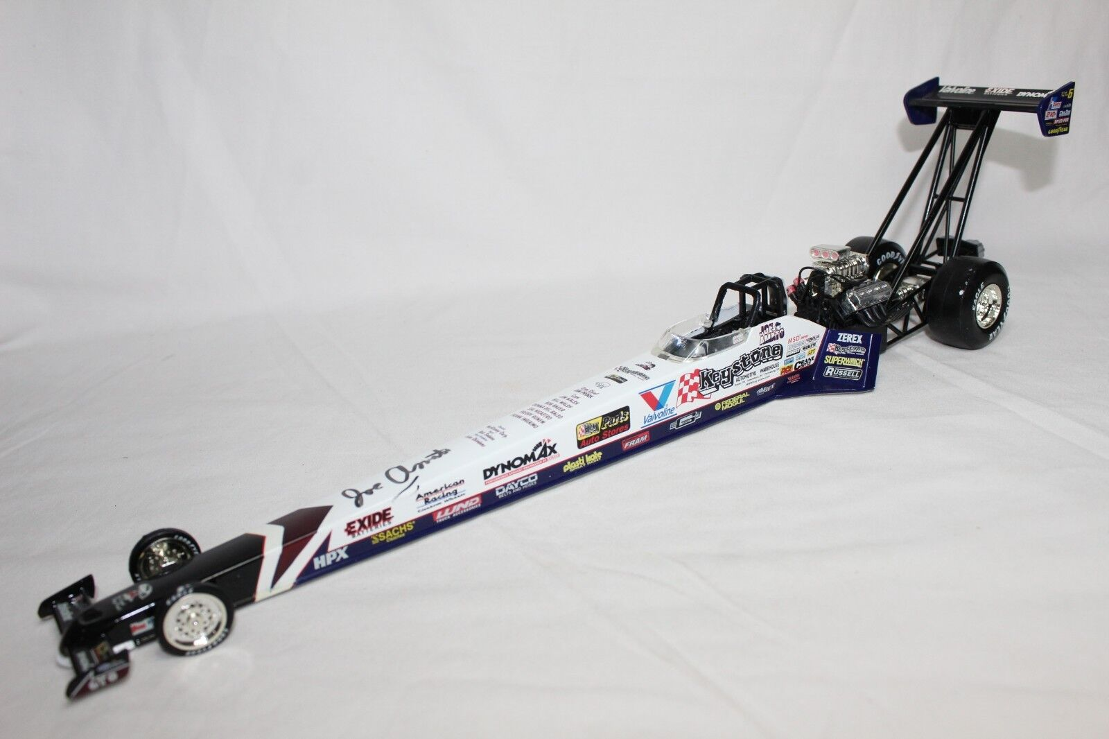 Action 1:24 Scale NHRA JOE AMATO KEYSTONE 1997 TOP FUEL DRAGSTER - AUTOGRAPHED