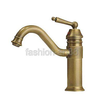 New Retro Antique Brass Kitchen Sink Swivel Faucet Mixer Water Taps fnf007