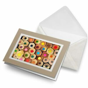Greetings-Card-Biege-Colouring-Pencils-Kids-School-21382