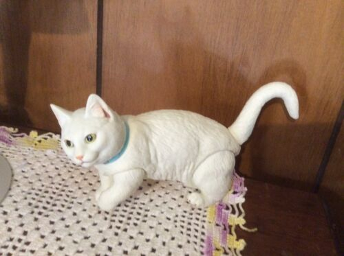"""Companion Posable White Jointed Kitty Cat Doll For Your BJD Doll MSD 17"""" To 20"""""""