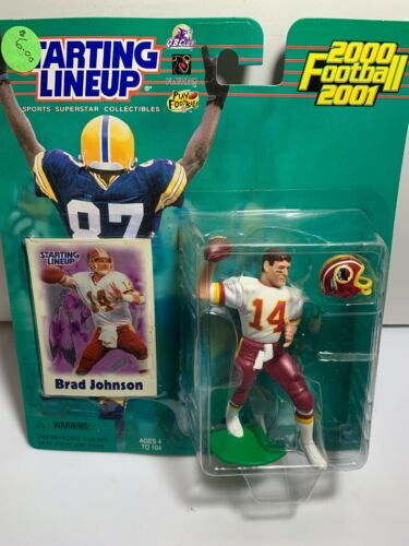 carte Brad Johnson 2000 Washington Redskins Starting Lineup Figurine