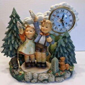 VTG-Goebel-Hummelscape-Milestones-Clock-with-Millennium-2000-Hummel-Figurine