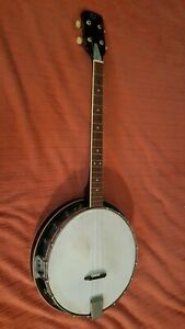 Vintage Gemtone 4 String Banjo Avec Résonateur-afficher Le Titre D'origine Prix De Rue