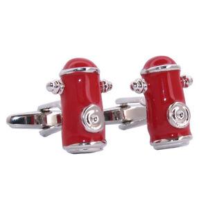 Details about Red Enamel NYC Style Fire Hydrant Cufflinks Johnny Pump New  York Plug aj158 BNIB