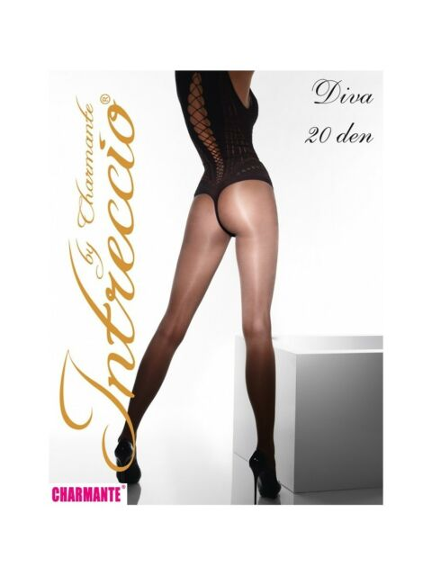 Charmante Intreccio Diva Tights 20 Denier Sheer to Waist fashioned Pantyhose