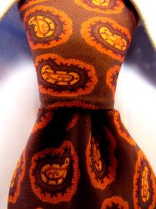 Hommes-Gentree-Marron-Cravate-en-Polyester-A29624
