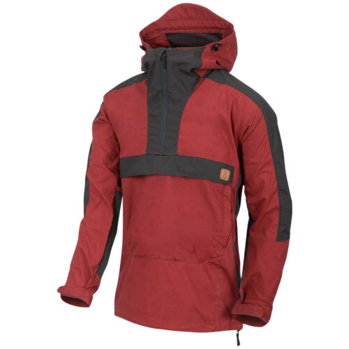 Helikon-Tex Woodsman Anorak Jacket Mens Breathable Travel Crimson Sky Ash Grey