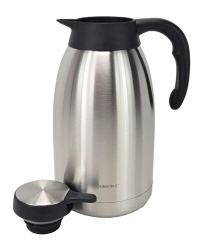 Isolierkanne in acciaio inox 2,0 L thermoskanne Caffè Brocca Teiera doppio muro