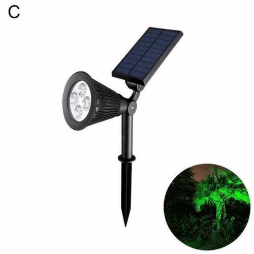 Solar Power Spot Lichter LED RGB Farbe GartenOutdoor Landschaft Wandleuchte H4R6