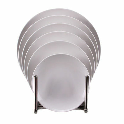 Newest Dinner Plate White Hotel Canteen Tableware High Qulity Shatter-proof Dish