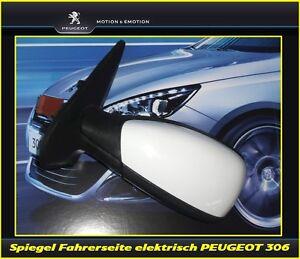 Original-Seitenspiegel-Aussenspiegel-elektrisch-Fahrerseite-Peugeot-306-komplett
