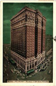 Vintage Postcard - 1937 Hotel McAlpin Building Broadway & 34th New York NY #4981
