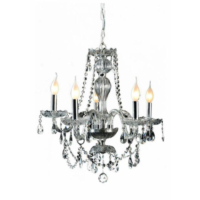 New Decor Living 5 Light Crystal And Chrome Chandelier 104991 15