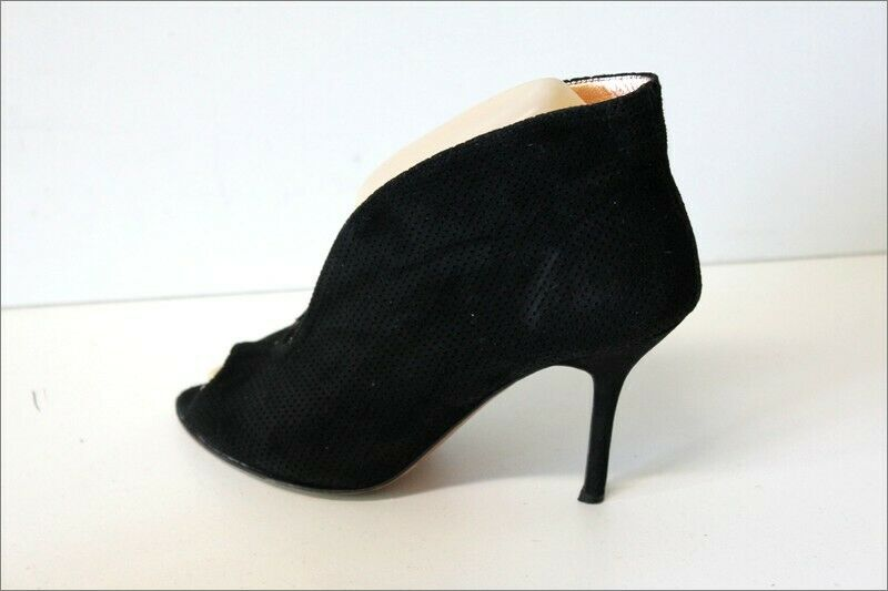 ANN TUIL Escapins Velours black Doublés Cuir T 36.5 BE BE BE 59625e