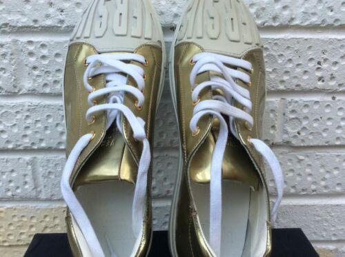 45 11 misura Scarpe uomo oro Nuovo bianco Versus Versace ginnastica da 0AyFY