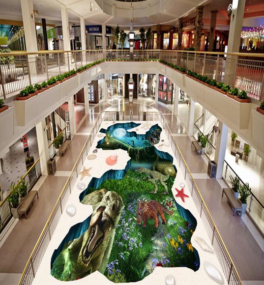 3D Forest Dinosaurs 573 Floor WallPaper Murals Wallpaper Mural Print AJ AU Lemon