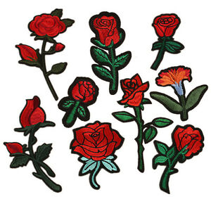 43d7843660869 Details about Embroidered Flower Rose Patch Applique for Clothes Iron On  Patches Lot