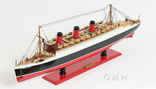 """RMS Queen Mary Cruise Ship 40"""" Built Ocean Liner Wooden Model Boat  Assembled"""