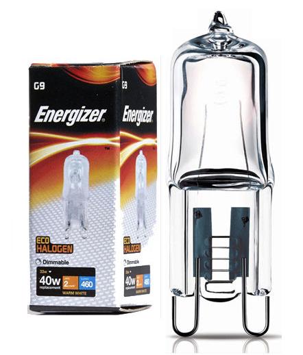 = 40w G9 ECO Halogen Stiftsockel Lampe Kapsellampe Energizer 33w s5409