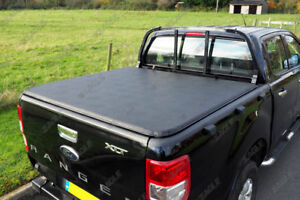 Ford Ranger T6 Dc Soft Roll Up Tonneau Cover Passt Mit Fabrik Ladder Rack Ebay