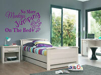 No More monkeys jumping...sticker decal bedroom wall art sticker Vinyl/Decal!