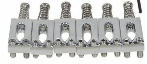 NEW-6-SADDLES-chrome-52-5mm-STRATOCASTER-amp-TELECASTER-pour-guitare-Fender