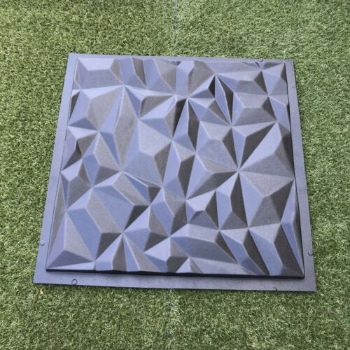 Form Plastic mould for Plaster Gypsum *CRYSTAL* 3D Decorative Wall Stone Panels