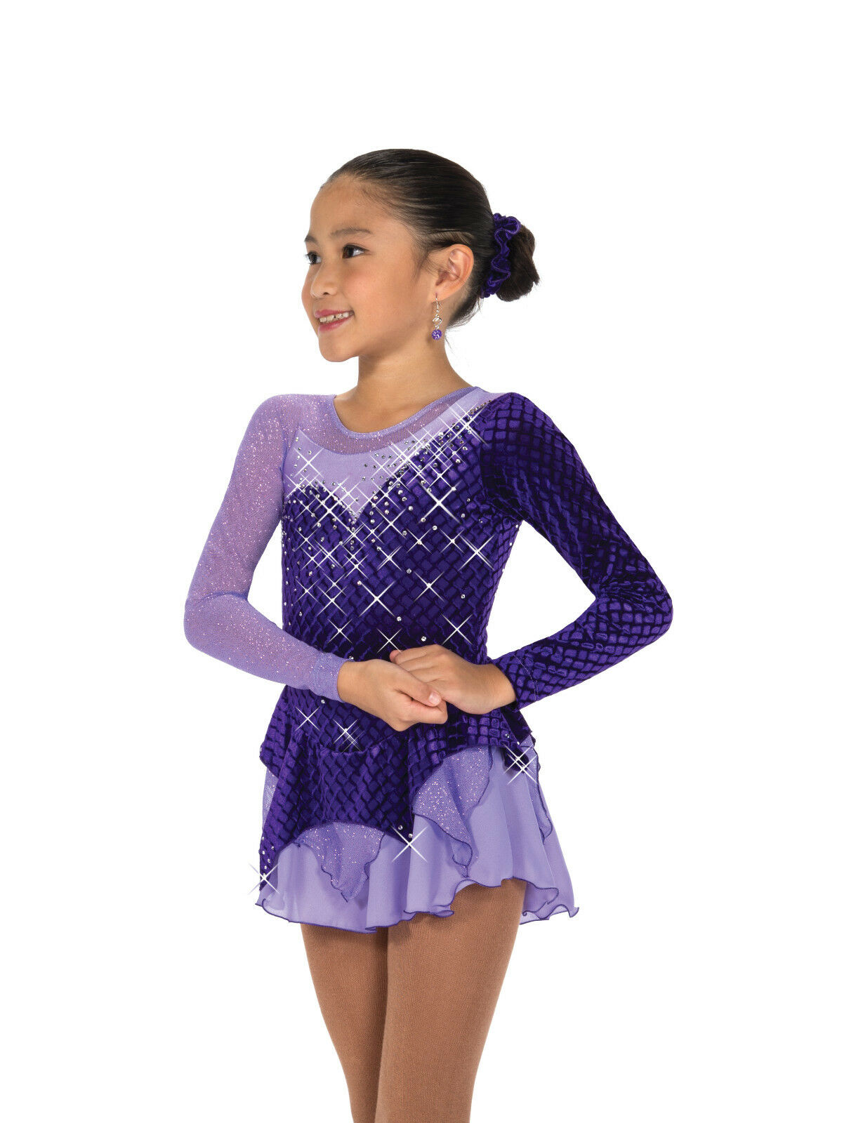 New Figure Skating Dress Jerry's 189 Diamond On Aster Youth 12-14 CXL