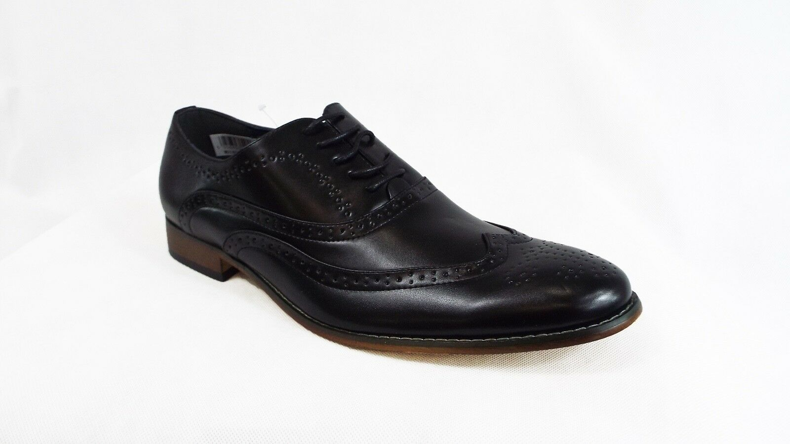 Mens Shoes Black Brogue Shoes Mens Wedding Formal Smart Casual 044392