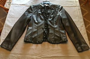 Conrad-C-Collection-washable-leather-look-ruffle-front-jacket-size-8