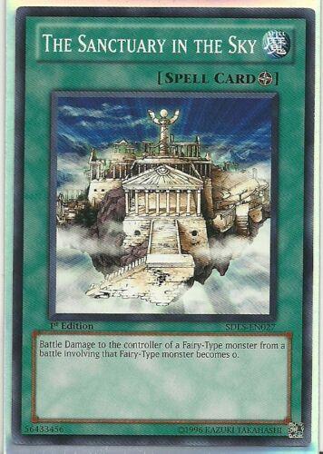 3x Yugioh SDLS-EN027 The Sanctuary in the Sky Common Card