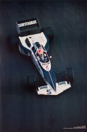 Brabham F1 - Piquet 1983 Rare and Hard to Find. Out of Print Car Poster:/>