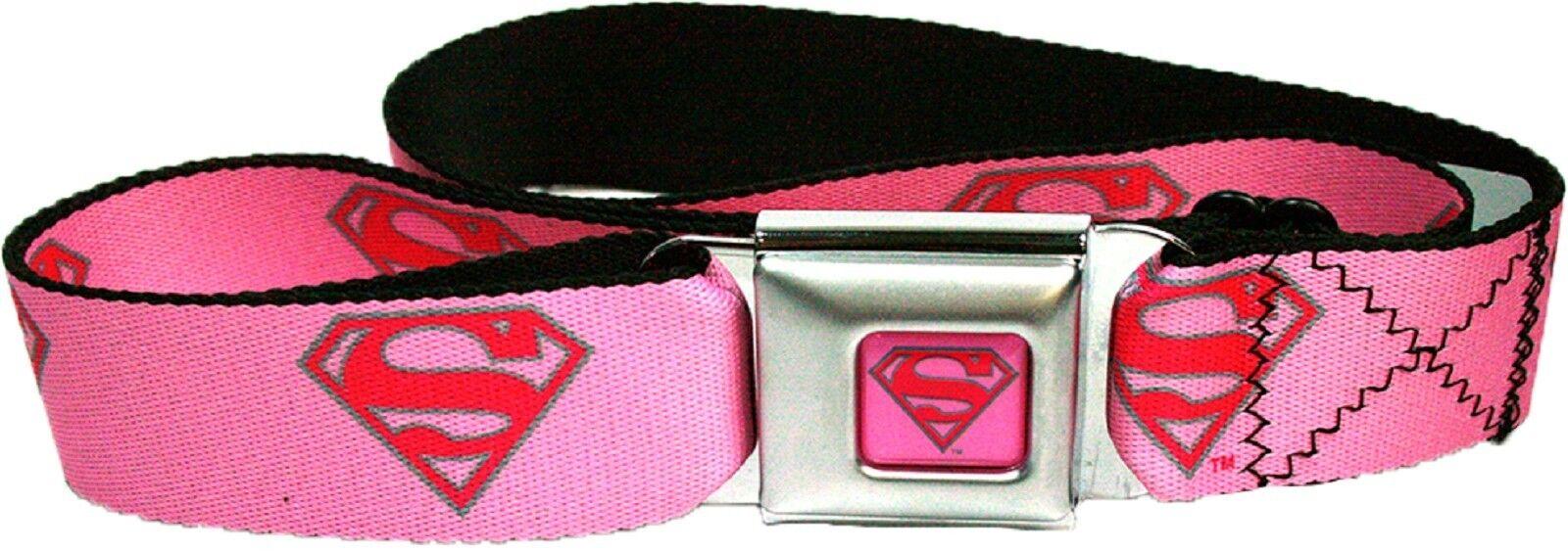 Unisex clothing shoes accs clothing shoes accessories supergirl symbol seatbelt belt dc comics buycottarizona Image collections