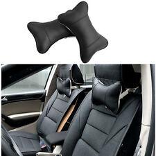 Travel Car Auto Seat Head Neck Rest Leather Cushion Pad HeadRest Bone Pillow