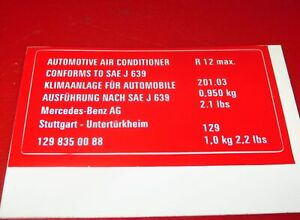 Schild-A-129-835-00-88-Mercedes-Benz-FIN-129-201-label
