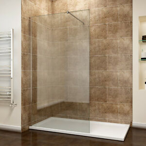 Walk-in-Wet-Room-Shower-Screen-Panel-8mm-EasyClean-Glass-Shower-Cubicle-and-Tray
