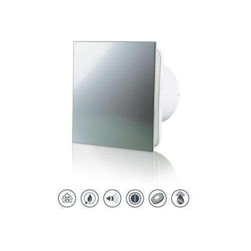 VLANO Badlüfter 100 mm mit Feuchtesteuerung und Nachlauffunktion Aluminium