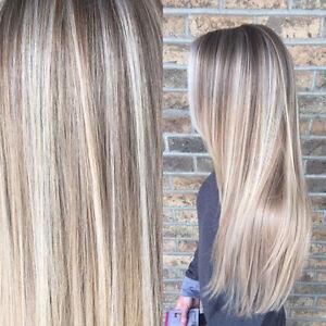 Wig Human Hair Natural Blonde
