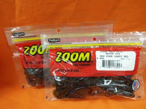 8cnt//16ttl 2 PCKS ZOOM Brush Hog #022-332 GREEN PUMPKIN CANDY RED
