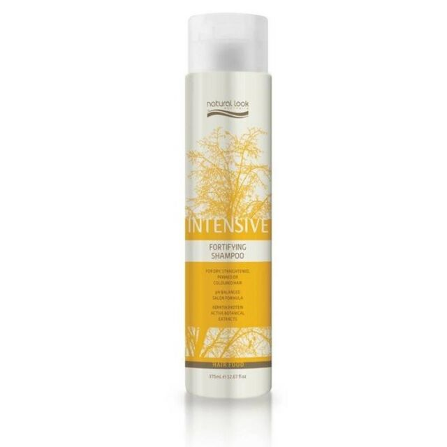 Natural Look Intensive Fortifying Shampoo 375ml SLS - Cruelty Free - Keratin