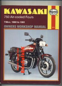 Kawasaki-GPZ750-GT750-Z750-80-91-Haynes-Manual-GPZ-GT-Z-750-Shaft-Chain-BX88