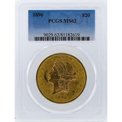 1896 PCGS MS62 $20 Liberty Head Double Eagle Gold Coin Lot 54