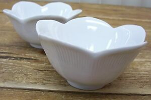 Pier-1-Lotus-2-Soup-Cereal-Bowl-Flower-White-4-inch
