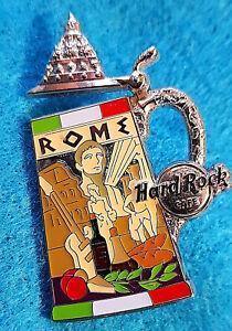 Rome-Chope-de-Biere-Series-Ouverture-Couvercle-Forum-Statues-Hard-Rock-Cafe-Pin