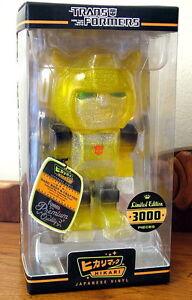 Transformers-Bumblebee-Clear-Glitter-Hikari-Sofubi-Vinyl-Figure-LE-3000-NEW