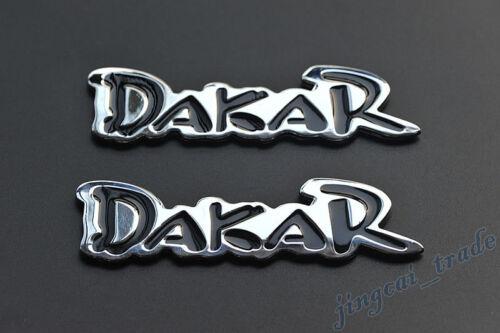 Dakar Logo 3D Chromed Metal Car Auto SUV Decal Badge Emblem Sticker Pair 2 pcs