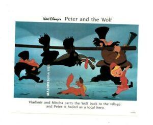 Maldives-1994-SC-1927-Disney-Peter-amp-Wolf-IMPERF-Souvenir-Sheet-MNH